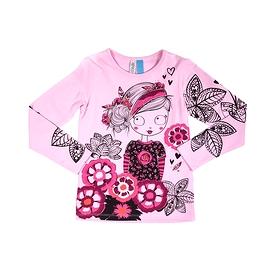 NANO- T-shirt manches longues rose avec fille