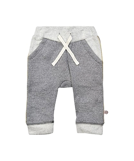 MINYMO- Pantalon ouaté gris et doré