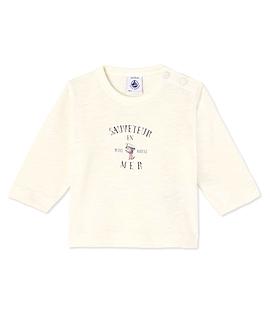 PETIT BATEAU- T-shirt manches longues beige