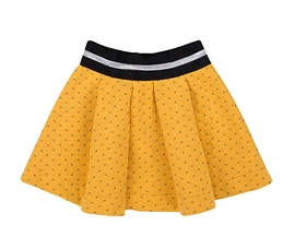 DEUX PAR DEUX- Jupe en jersey matelassé jaune
