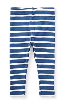 TEA COLLECTION - Legging rayé bleu et blanc