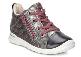 ECCO - Chaussures de cuir 'Black/Alusilver/Dark Shadow'