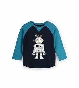 HATLEY - T-shirt manches longues ''Robot métallique''