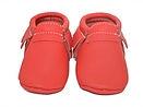 VIC & TED - Chaussons souples en cuir rouge vermeille.