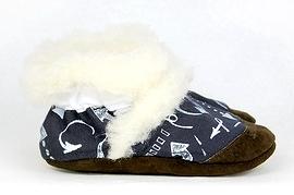 PETITS MINOUS - Pantoufles fourrées de laine de mouton - Le bonheur est partout