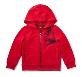 TEA COLLECTION - Chandail à capuche rouge 'Kasai'