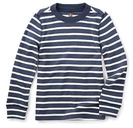 TEA COLLECTION - T-shirt à manches longues rayé bleu et blanc