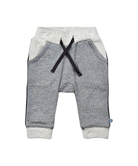 MINYMO- Pantalon molleton gris cordon noir