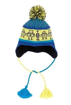 DEUX PAR DEUX -Tuque d'hiver en tricot 'Robots Rigolos'