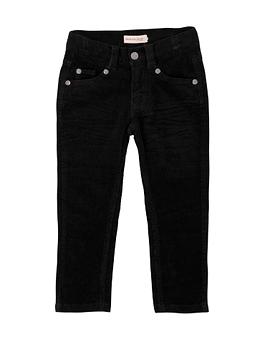 DEUX PAR DEUX- Pantalon en velours côtelé noir