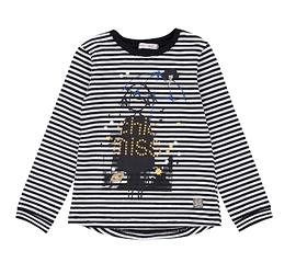DEUX PAR DEUX- T-shirt en jersey à rayures