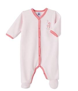 PETIT BATEAU- Pyjama rose en velours