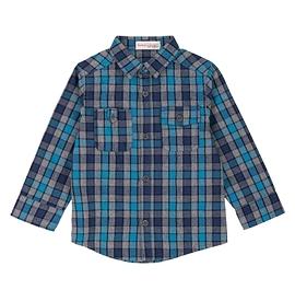 DEUX PAR DEUX- Chemise bleue à carreaux