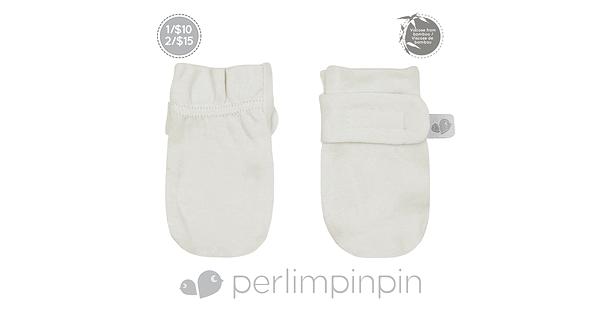 21fa6b4a714 Perlimpinpin- Bamboo scratch mitts - ivory
