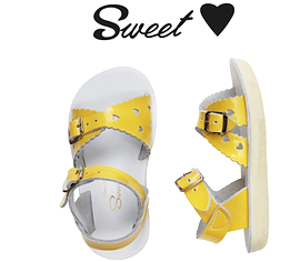SALT WATER -Sandales jaunes 'Sweetheart'