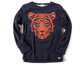 APPAMAN - T-shirt bleu à manches longues 'Tiger'