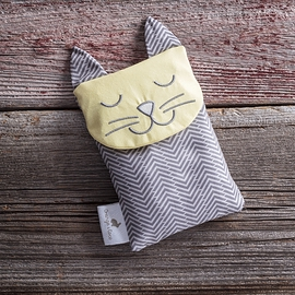 Calm & Confort Bag, cat yellow and grey