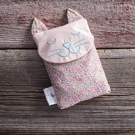Sac réconfort, chat Liberty turquoise