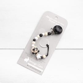 AS20 - Attache suce panda et couronne / naturel / blanc / noir