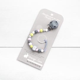 AS25 - Attache suce petit loup / gris / gris clair / citron / blanc / rose pâle