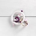 KIT6 - Ensemble cadeau hibou / blanc / rose pâle / violet