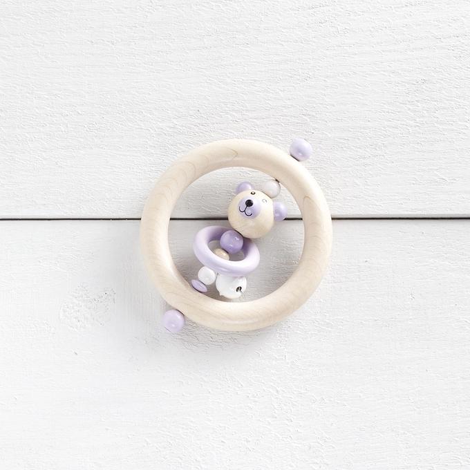 KIT8 - Ensemble cadeau ours / Blanc / Naturel / Lilas