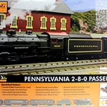 MTH - 30-4227-1 - PRR 2-8-0 Steam passenger starter set (smoke & sound)