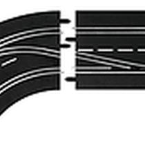 Carrera - 30362 - Changement de voie courbe (1/60), Gauche (Interieur vers exterieur), Digital 124/132