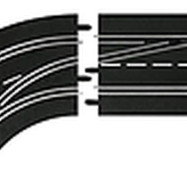 Carrera - 30362 - Changement de voie courbe (1/60), Gauche (exterieur vers interieur ), Digital 124/132