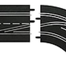 Carrera - 30364 - Changement de voie courbe (1/60), DROIT (Interieur vers exterieur), Digital 124/132