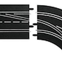 Carrera - 30365 - Changement de voie courbe (1/60), DROIT (exterieur vers interieur), Digital 124/132