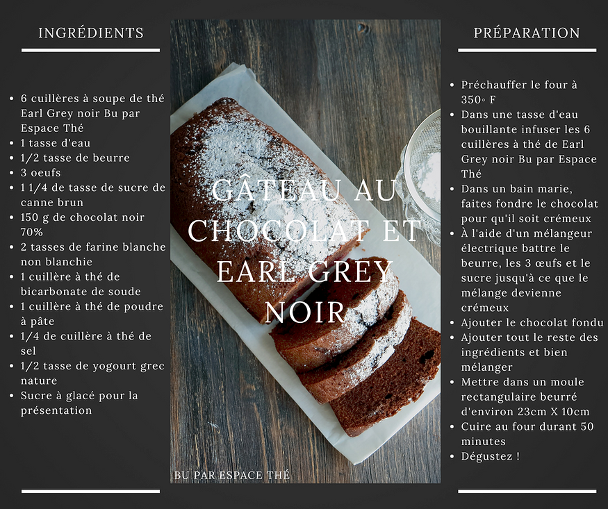 Earl Grey chocolate cake   Blog   BU espace thé