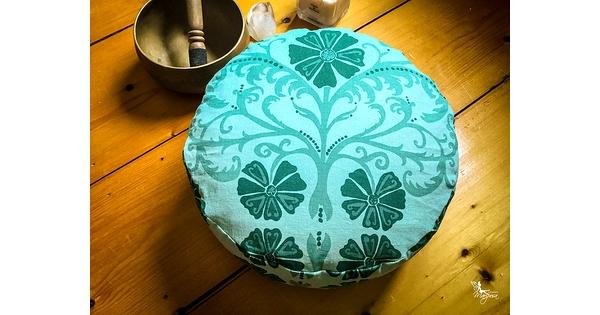 Zafu pouf lavable verdure d cor boh me coussin de for Housse de coussin rouge