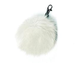 Pompom de fourrure blanc