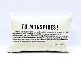 Coussin Denis Meunier - tu m'inspires