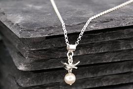 Collier oriental perle blanche