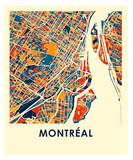 Affiche Montréal en couleur