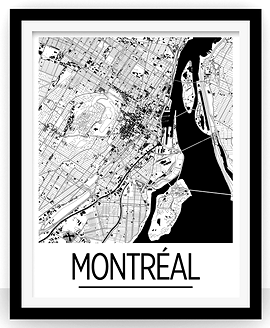 Affiche Montréal noir & blanc