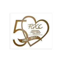 Autocollant FQCC 50e anniversaire