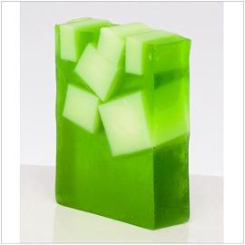 Savon glycérine au thé vert et lime