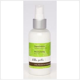 Vaporisateur hydratant pour le corps lime et basilic