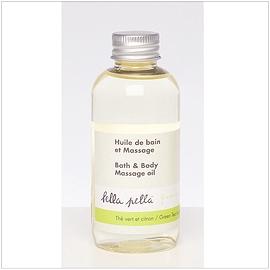 Huile de bain et à massage thé vert et citron