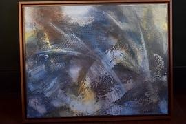 Peinture Acrylique 18x14 encadré Lueurs