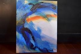 Peinture Acrylique 14x18  Univers