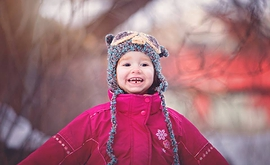 Tuque Bleu et mauve, pour enfant en forme de hibou