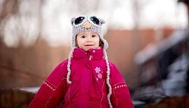 Tuque hibou pour enfants grise pâle