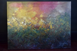 Peinture Acrylique 24x18 Forêt Boréale