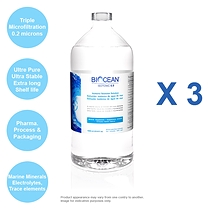 3 BOTTLES- BIOCEAN® ISOTONIC 0.9, 1000 ml Economy bottle, Pure Marine Plasma®