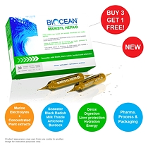 BIOCEAN® MARISYL HEPA 4®,  30 x 10 ml, Unique synergy of seawater and concentrated plant extracts for the ultimate detox!
