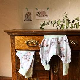 Pantalons Sarouel HIVER POLAIRE, collaboration avec Katrinn Illustration